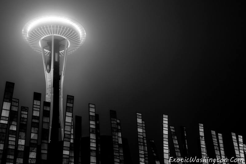 Space Needle in a bit of fog. Photo: Exotic Washington